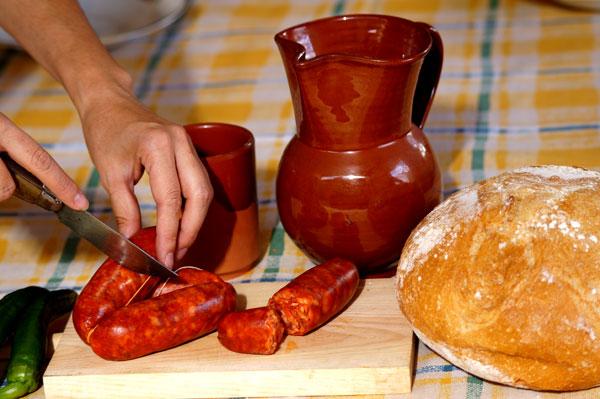 Chorizo casero artesano ideal para la mesa